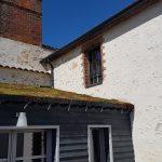 Ecoulement des eaux de pluie sur toiture végétalisée