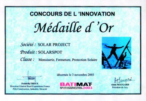 Atlantique Goutt'alu - Concours innovation Médaille d'Or
